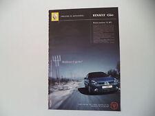 advertising Pubblicità 2001 RENAULT CLIO 1.5 DCI