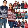 New Unisex Men Women Santa Xmas Christmas Novelty Fairisle Retro Jumper Sweater