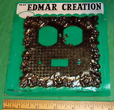 Edmar Creation Combo Switch Cover Plate Ornate Gold NOS w/ Screws NICE! 1960's