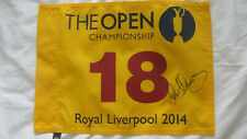 RORY MCILROY HAND SIGNED WINNING OPEN GOLF PIN FLAG  2014