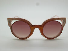 FENDI FF 0137/S NUG4C Paradeyes Glitter Orange/Pink Cat-Eye 49mm Sunglasses