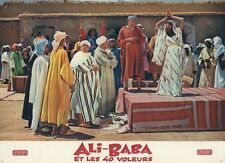 FERNANDEL  SAMIA GAMAL ALI BABA ET LES 40 VOLEURS 1954 VINTAGE LOBBY CARD #1