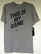 """NWT NFL Colts """"This Is My Game"""" """"Play Football"""" Gray S/S T-Shirt Youth XL (18)"""