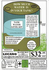 Rain Water Tank Water Level Indicator Gauge  - LUCANO -  AUSSIE MADE!