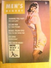 Men's Digest Magazine April 1966 Sex and Pin Pool Party Uta Levka