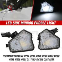 LED Under Side Mirror Light For Mercedes Benz W204 W212 W176 W221 C117 W242 C216
