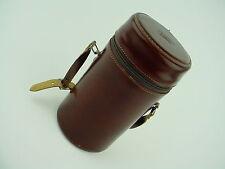 """E. Leitz Inc. Rockleigh Top Grain Cowhide #6 Lens Case - 8"""" Inches Tall - Clean"""