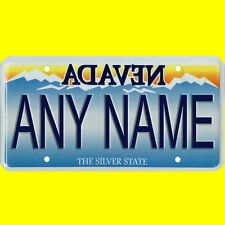 Custom Nevada Vanity License Plate - Novelty Only