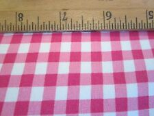 "Pink & White .25"" square Gingham Stretch Fabric 50"" wide - 1 yard"