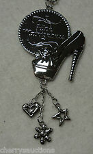 d HIGH MAINTENANCE shoe CAR MIRROR CHARM JEWELRY REAR VIEW ornament ganz gift