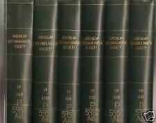 Transactions American Entomological Society 12VOL 1929