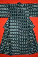 Vintage Japanese Kimono Cotton Antique Boro NORAGI Indigo Blue KASURI/BH03/570