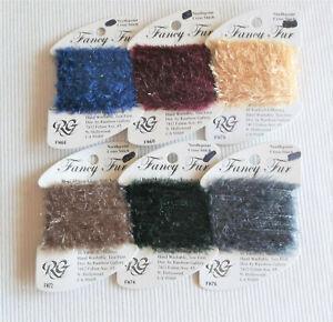 6 FANCY FUR ~ Rainbow Gallery Needlepoint/Cross Stitch ~ Thread