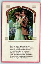 Vintage Romance Postcard Don't Be Angry With Me Darling Apology Greetings