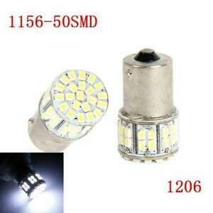 2X Fog Lamp 1156 50SMD 1206 7506 LED Bulbs DRL Turn Signal Reverse Parking Light