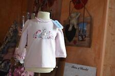tee shirt neuf tartine et chocolat 6 mois rose tendre les petits lapins avec per