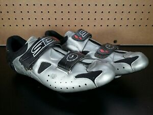 SIDI Airplus Cycling Shoes Silver Mens Shoes Cleats Size US 11