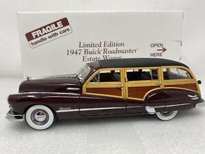 1/24 Danbury Mint 1947 Buick Roadmaster Estate Wagon Limited Burgandy Woody READ