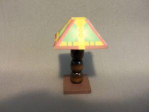 Dollhouse Miniature 1:12 Table Lamp (Square Lamp Shade)