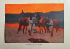Frederick Remington, Native American, Horses, Vintage 1908 Antique Art Print