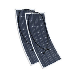 2pcs 100w 200Watt Flexible Solar Panel Mono Photovoltaic Module RV Boat Caravan