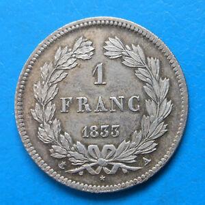 Louis-Philippe 1 franc 1833 A PARIS SUPERBE cote 400€