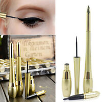 Black Waterproof Lasting Eyeliner Liquid+Eye Liner Pencil Pen Cosmetic Make Up