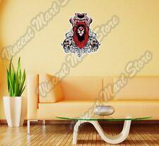 "Dangerous Lion Skull Animal Gift Idea Wall Sticker Room Interior Decor 20""X25"""