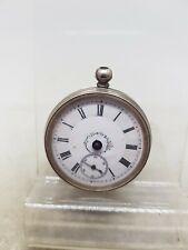 Antique solid silver ladies pocket watch c1900 SPARES