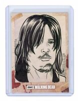 The Walking Dead Hunters & Hunted Daryl Dixon Sketch Card by Rich Molinelli