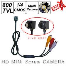 HD 600TVL Spy Hidden Camera Mini CCTV Security Pinhole RCA Cam With Mic Button