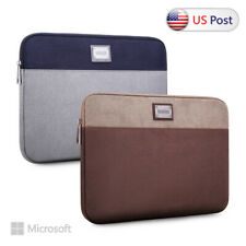"Laptop Case Sleeve Grey Bag For 10"" 12.3"" 13.5"" 15"" Microsoft Surface Pro 6 Go"