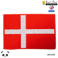 Denmark National Flag Embroidered Iron On Sew On PatchBadge For Clothes etc