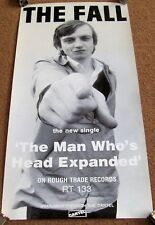 "THE FALL SUPER UK REC COM PROMO POSTER ""THE MAN WHOSE HEAD EXPANDED"" SINGLE 1983"