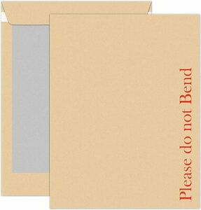 50 A3 PLEASE DO NOT BEND HARD CARD BOARD BACKED ENVELOPES BROWN MANILLA450x324mm