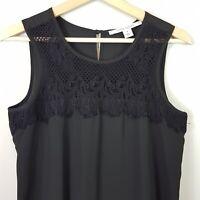 [ LAURA ASHLEY ] Womens Black Lace Detail Dress | Size AU 8 or US 4