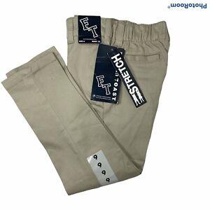 Boys Stretch Chino Straight Khakis Pants Size 6