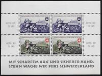 Switzerland Soldier stamp:Territorial Troop, TER #225a S/S, Mitr.Kp.IV140- ow301