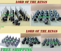 21 Pcs Minifigures Lord of The Rings Gondor Lancer Archers Medieval Riders Army