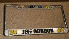 Jeff Gordon NASCAR Metal License Plate Frame # 24 - USED