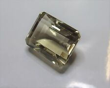 Large Citrine emerald cut gemstone..139.9 carat