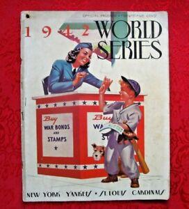 1942 World Series Official Program New York Yankees vs St Louis Cardinals