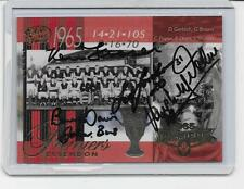 SELECT 1965 ESSENDON PREMIERS CARD SIGNED BY 5 LEGENDS  /MINT CONDITION