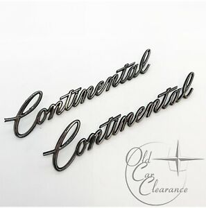"1975-1977 Lincoln ""Continental"" Quarter Panel Script PAIR (D5VY6525622A) NOS"
