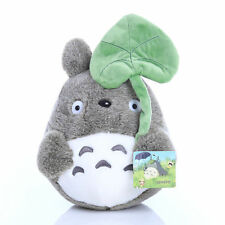 "Hot sale My Neighbor Totoro Plush Doll 8"" Soft Stuffed Dark Grey Leaf Totoro Toy"