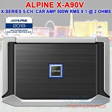 1ALPINE X-A90V, X-SERIES 5-CHANNEL CAR AMPLIFIER, 500 WATTS RMS x 1 at 2 ohms