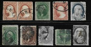 Lot #1 - Collection of Old US Stamps