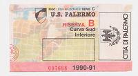 54358 Biglietto stadio 123 - Palermo Monza - 1990/1991