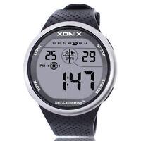 Xonix Men Sports Wristwatch Digital Self Calibrating WR100M Swim outdoor Watch