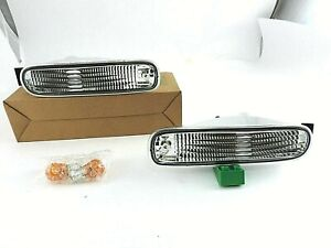 1993 - 1996 Clear Bumper Turning Signal Indicator Lights for JDM Nissan S14
